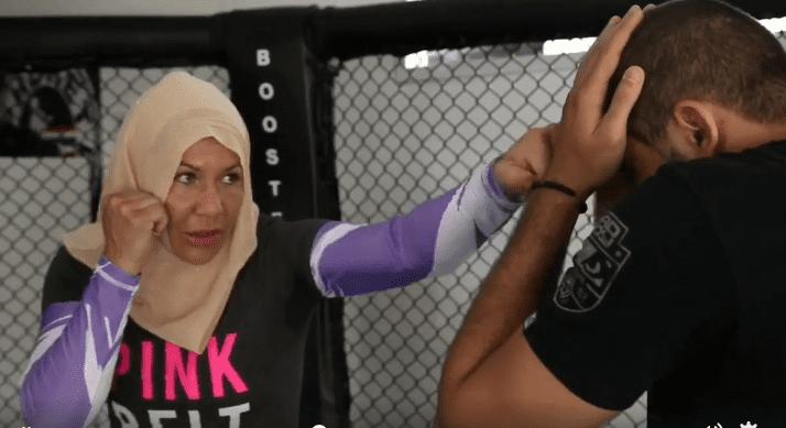 cristina cyborg santos wearing hijab