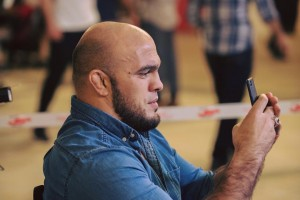 Ilir Latifi attending the Brave 9: Kingdom of Champions Open Workouts