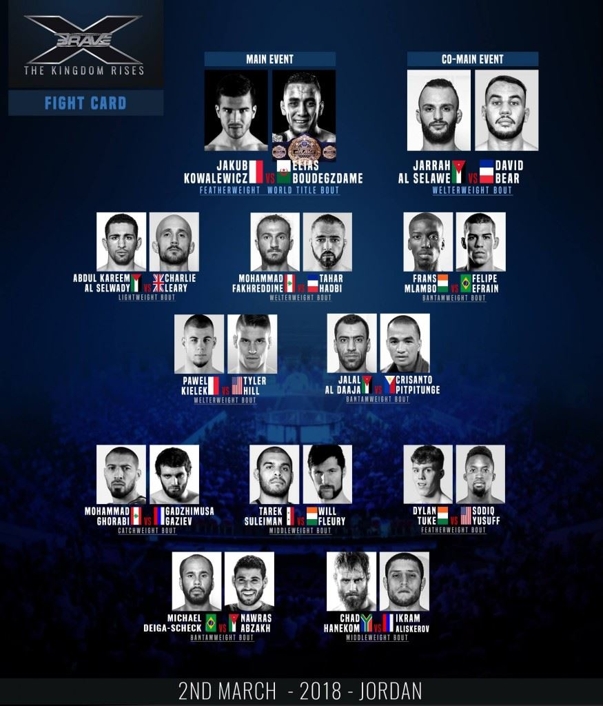 Brave 10 full fight card